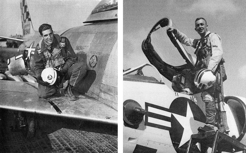 Black and White Photographs of U.S. Military pilots during Vietnam war